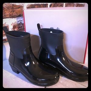NIB Hunter Original Refined Mixed Finish Rain Boot